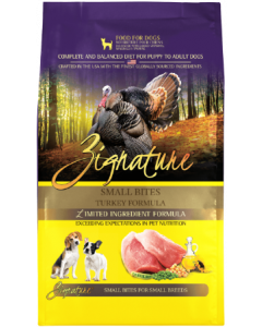 4# Zignature Turkey Small Bite Dog Food Dry