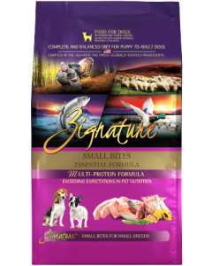4# Zignature Zssentials Small Bite Dog Food Dry